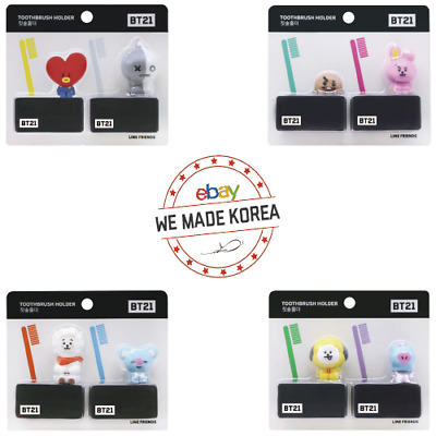 BTS BT21 Character Toothbrush Holder 2ea Set 4types Official K-POP Authentic MD