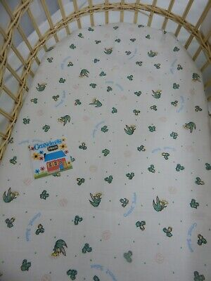 Bassinet Fitted Sheet  Gumnut Babies 100% Cotton FITS STANDARD BASSINET
