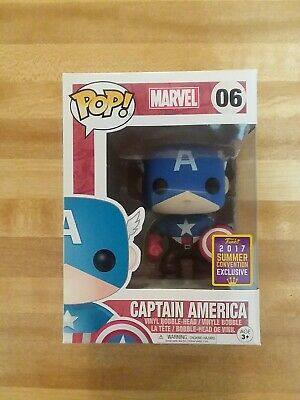 Funko Pop Marvel Captain America #06 2017 Summer Convention Exclusive