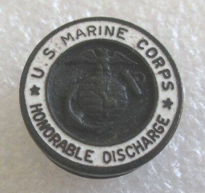 Vintage U.S. United States Marine Corps Honorable Discharge Lapel Pin WWII Era