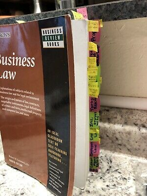Barrons Business Law Sixth Edition Textbook Book Review Books Robert W Emerson