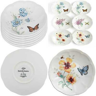 """Butterfly Meadow Party Plates Set Of 6 PARTY WHITE"""" DIAMETER Kitchen"""
