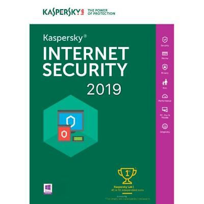 KASPERSKY INTERNET SECURITY 2019 1 PC/ User / 1 Device /1 Year/ Global Key 5.30$