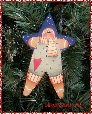Hp Gingerbread Man Holiday Spoon Christmas Ornament Hand Painted
