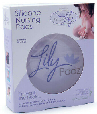 NEW LilyPadz® Reusable Silicone Nursing Pads Single Pair Large Size