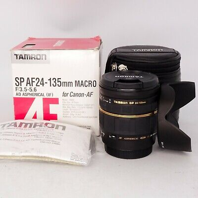 Tamron SP AF 24-135mm f/3.5-5.6 Macro IF AD Asph Lens for Canon AF - OPEN BOX
