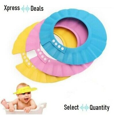 UK Kids Baby Child Adjustable Soft Waterproof Shield Shampoo Shower Bath Hat Cap