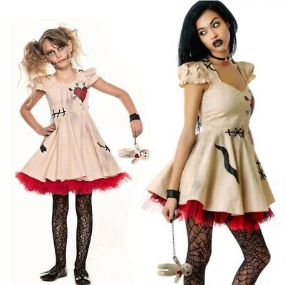 Halloween Costume Voodoo Doll Costumes for Adults&Child Fancy Cosplay Mini Dress