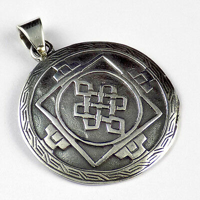 1 Pcs Beautiful 925 Sterling Silver Round Design Style Pendant Black Oxidize.