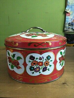 Vintage Tin floral Container