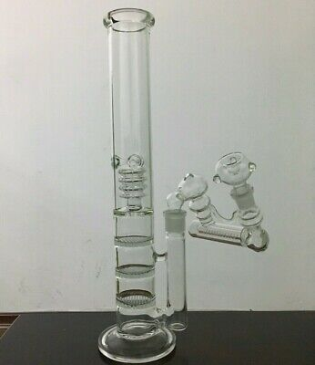 Glass Water Bong Triple Honeycomb Perc Water Pipe Birdcage Perc With Ash Catcher