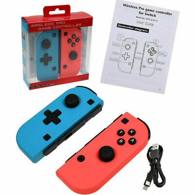2x Wireless Pro Joy-Con Game Controller for Nintendo Switch Console Wifi Gamepad
