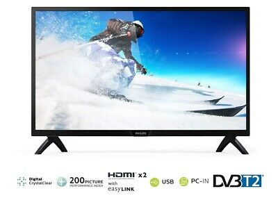 """【EXTRA 20%OFF】PHILIPS 24"""" HD CRYSTAL CLEAR LED TV w/ USB PVR DVB-T- 24PHT4003"""