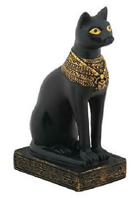 Egypt 3-Inch Egyptian Black Bastet Feline Cat Goddess Statue