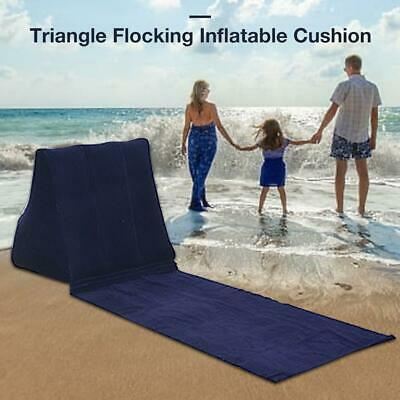 PVC Triangle Cushion Soft Flocking Pillows for Beaches Parks Outdoor Camping