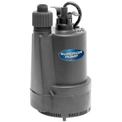 Superior Pump High-Efficiency, 1/3 HP Submersible Thermoplastic Utility Pump