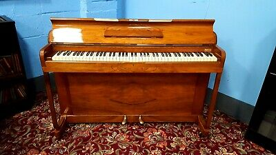 """Small, Walnu, """"KEMBLE MINX"""" Overstrung Piano.5 yr Warranty, NATIONWIDE DELIVERY."""