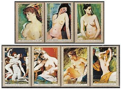 Guinea equatoriale 1972 MAESTRI PITTURA  Bronzino Manet Modigliani Paintings MNH