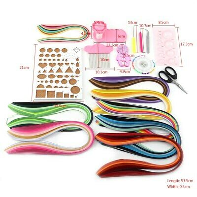 960 Stripes Quilling Paper 3mm Width Mixed Color For DIY Craft Multi Colors HOT