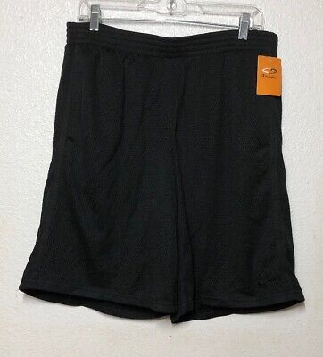 "Champion Mens Mesh 9.5"" Inseam Athletic Shorts Black Size M"