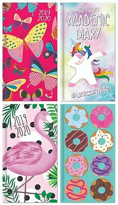 2019 2020 Slim Size Glitter Finish Academic Mid Year Week to View Student Diary