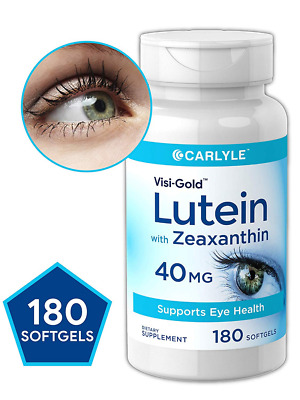 LUTEIN 40 mg with ZEAXANTHIN 180 Capsule Softgel Support Eye Health MAX Strength