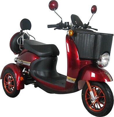 Red 3 Wheeled 60V 100AH 500W Electric Mobility Scooter FREE Delivery-Green Power