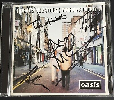 Brian Cannon Tony McCarroll McGee Signed Oasis CD Rare Noel Gallagher