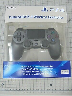Official Sony PlayStation PS4 Dualshock 4 Wireless Controller Pad - Steel Black