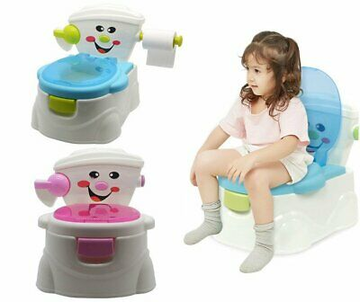 3 in 1 Kids Toddler Potty Training Seat Baby Toilet Trainer Safety Urinal Chair