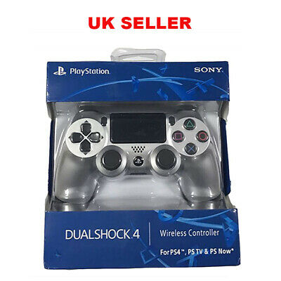 Silver PS4 Dualshock Bluetooth Wireless Controller For Play Station 4 UK Seller