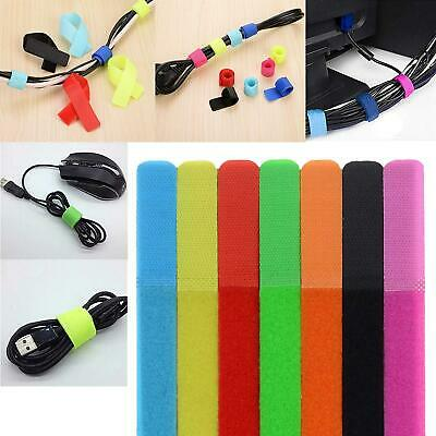 Cable Ties Reusable Strips-Straps Wire Organiser Multi-Use Fastening 50pcs