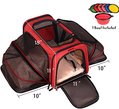 Premium Airline Approved Expandable Pet Carrier by Pet Peppy®- TWO SIDE Designed