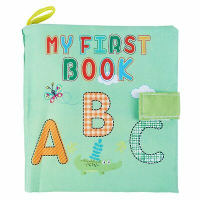 1X(Soft Baby Cloth Book Early Educational Newborn Crib Toys for 0-36 Months GN1