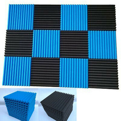 LN_ LX_ 12Pcs Acoustic Panels Soundproofing Foam Tiles Studio Sound Isolation