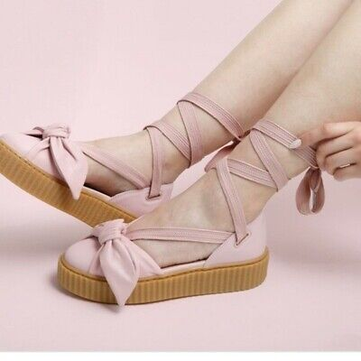 competitive price 0d836 3223f FENTY PUMA BY Rihanna Women Bow Creeper Sandal pink oatmeal ...