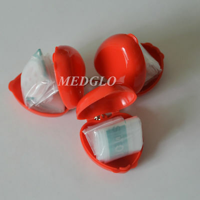 100 PCS  CPR Face Sheild Transparent KeyChian Mouth To Mouth Rescue CPR Mask