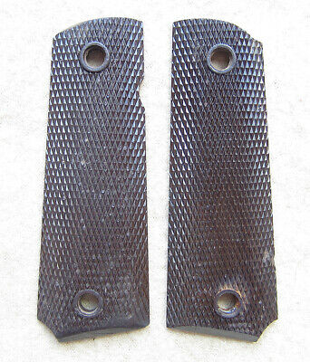 Keyes USMC Remington Ithaca WWII US Army WW2 1911 Colt 45 Brown Pistol Grips