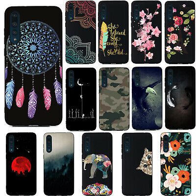 For Huawei P10 P20 P30 Nova 3i Nova 5 P Smart Soft Painted TPU Back Case Cover