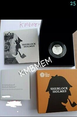 Sherlock Holmes 2019 50p Royal Mint Silver Proof Piedfort Coin 2500 Mintage