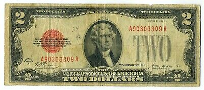 FR. 1502 1928A $2 Legal Tender Red Seal Small Size Note