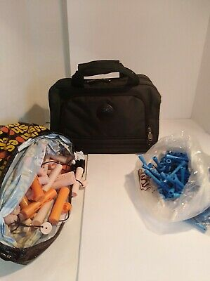 Cosmetology Bag Plus Curlers, Clamps , Combs