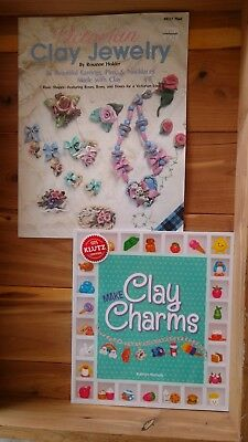 Polymer Clay & Decorative dough - 6 Books On working with Clay, Jewelry & Charms
