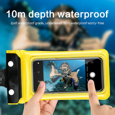 Underwater 3 Layer Clear Pouch Waterproof Dry Bag Case Cover For iPhone Galaxy