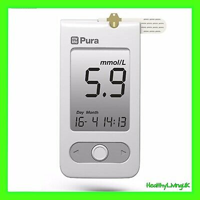 Mylife Pura Blood Glucose Meter/Monitor - Single Unit Meter Only - Diabetic