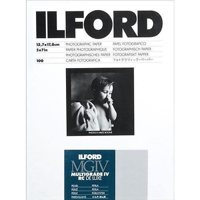 "Ilford Multigrade IV RC Deluxe 5"" x 7"" 100 Sheets Pearl Paper"