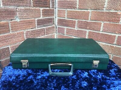 Vintage Retro 60 Tapes Cassette Storage Holder Carry Vinyl Brief Case Box