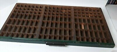 Antique Divided Printers Typeset Tray Drawer