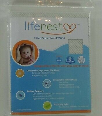 FITTED Sheet baby white breathable Lifenest 2nd Generation Cover