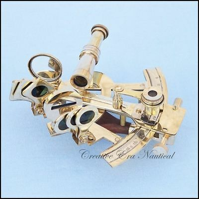 """Sextant Nautical Working Instrument Astrolabe Ships Maritime Gif Solid Brass 4"""""""